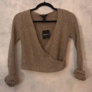 Surplice Cropped Knit
